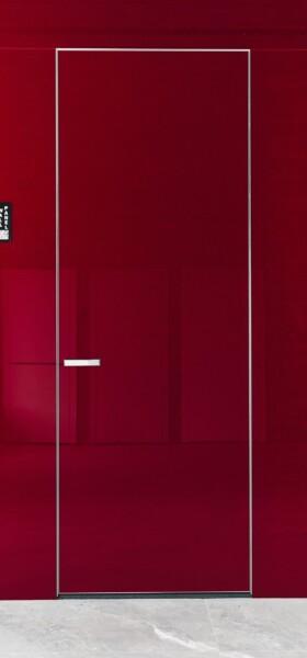 Двері прихованого монтажу скло фарбоване 43 профіль