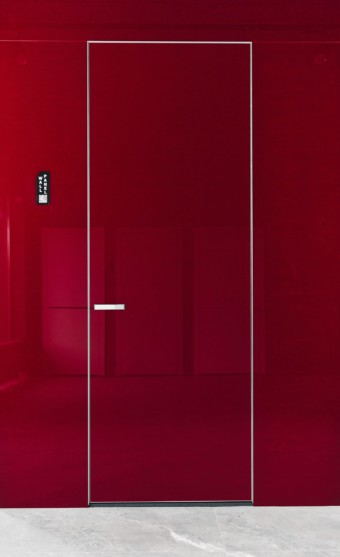 Двері прихованого монтажу скло фарбоване 51 профіль
